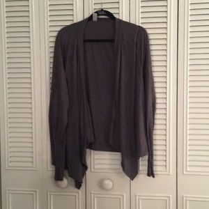 Old Navy Draped Grey Long Sleeved Open Top